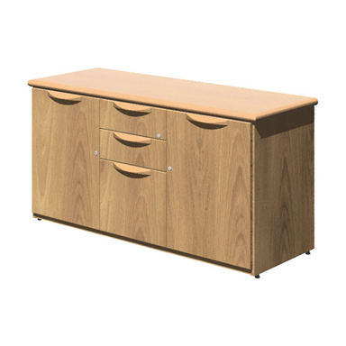 Fulcrum Credenza with Central Drawers