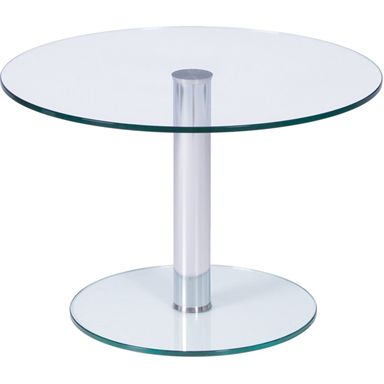 Crystal Round Glass Coffee Table