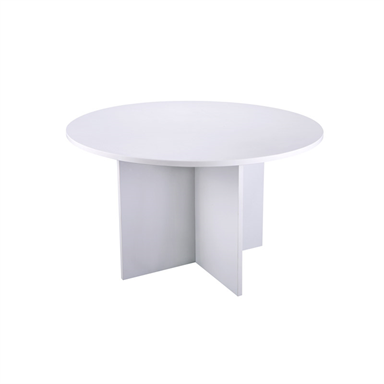 White Round Boardroom Table