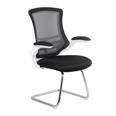 Leaner Mesh Visitor Chair White Frame